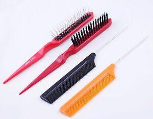 1 piece tease bristle nylon brush or wig brush or metal tail hair b