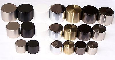 19mm brass black nickel chrome white silver curtain pole finials end cap caps ebay