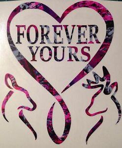 "Download Infinity Heart Forever Yours Deer Vinyl Decal 5"" Muddy ..."