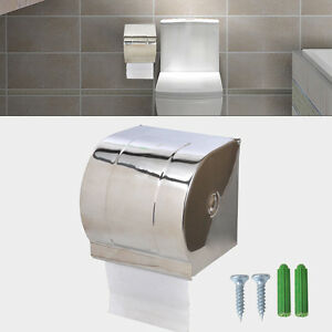 Stainless Steel Waterproof Toilet Paper Holder Roll Tissue ... on Wall Mounted Tissue Box Holder id=31105