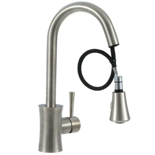 pegasus fp0a5012bnv luca kitchen faucet pull out sprayer soap brushed nickel
