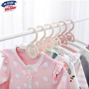 details about lovely plastic baby clothes hangers coats hanging rack baby kid garment hanger