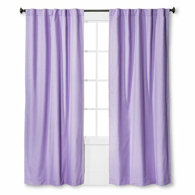 pillowfort light blocking blackout curtain twill lavender 42 w x 84 l 2 panels