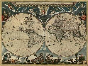 1662 Blaeu s Atlas Maior Vintage Map Poster by Joan Blaeu   Multiple     Image is loading 1662 Blaeu 039 s Atlas Maior Vintage Map