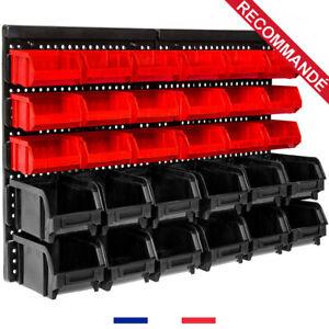 details sur casier rangement etagere murale bac a bec atelier garage 30 boites outils neuf