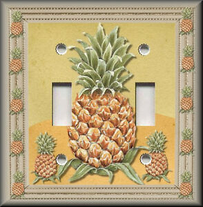 Metal Light Switch Plate Cover   Pineapple Home Decor Kitchen     Image is loading Metal Light Switch Plate Cover Pineapple Home Decor