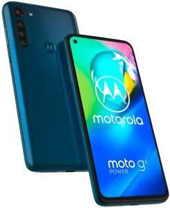 """Motorola Moto G8 POWER (64GB + 4GB) XT2041-1 6.4"""" FHD+ Display Dual SIM Blue NEW"""