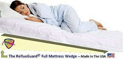 6 full width under mattress bed wedge w cover for acid reflux gerd treatment ebay