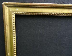 details sur n 699 cadre louis xvi bois dore a la feuille xviiieme pour chassis cm