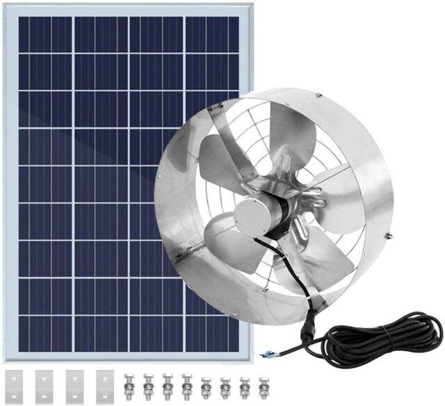 dc house solar panel plus roof vent fan 3000cfm up to 4200 sq ft