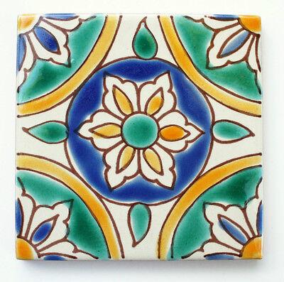 mediterraneo espanhol azulejos de ceramica granada 4 x 4 pol ebay