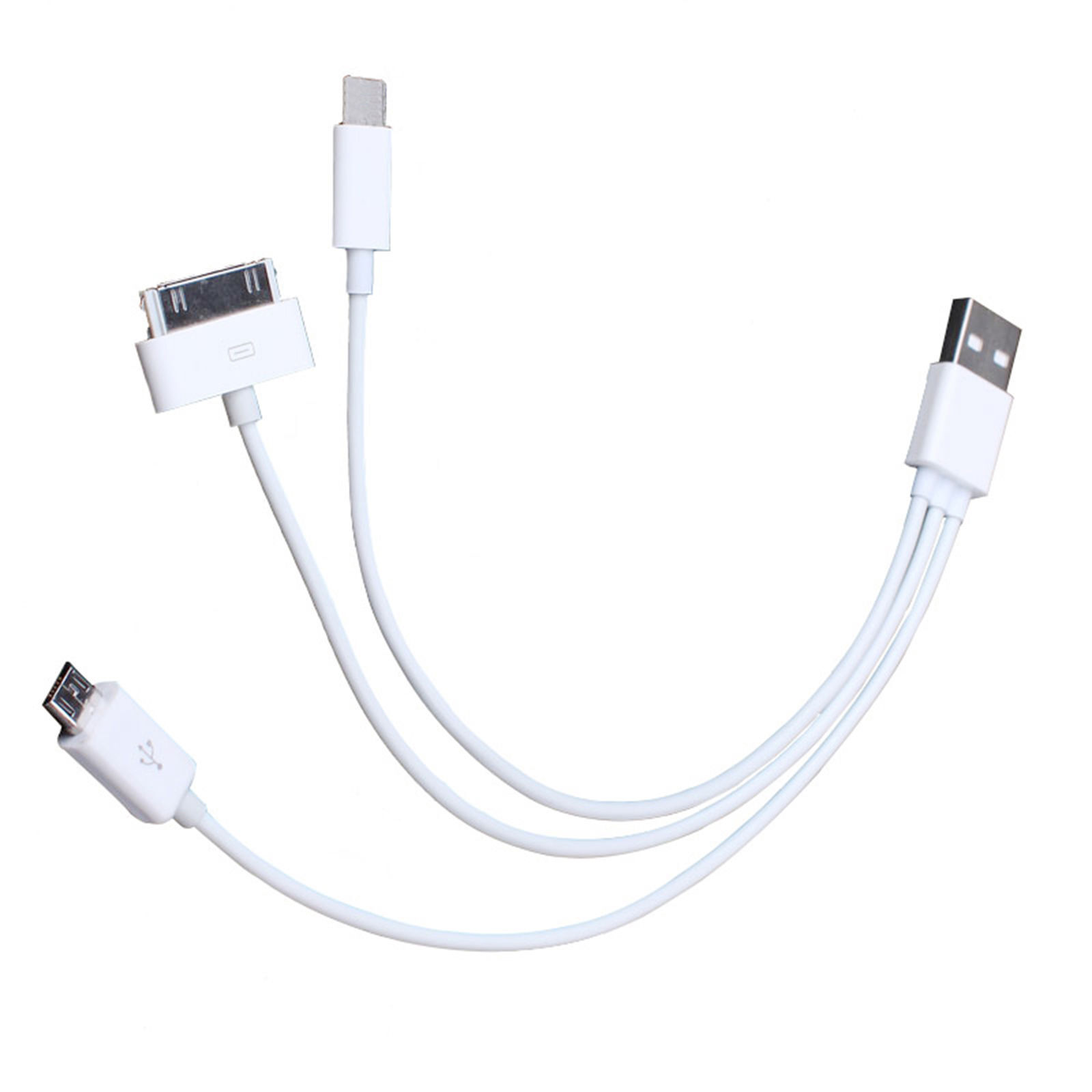Multi Charging Cable Charger Lead For Iphone 4 4s 5 6 Ipod
