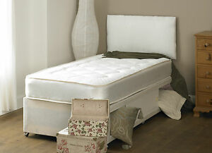 Image Is Loading Small Double Deep Quilt 4ft Divan Bed And