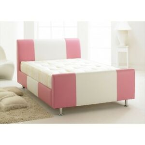 Image Is Loading New Brighton 3ft Small Double Bed Pink Amp