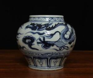 FINE CHINESE BLUE AND WHITE PORCELAIN POT (A53)