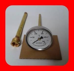 details sur 500 c thermometre pour four a bois a pizza en pierre 150 mm gartenofen