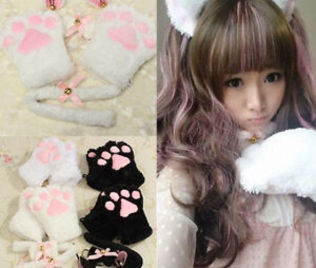 Image Is Loading Sexy Flutty Cat Maid Cosplay Neko Animal Costume
