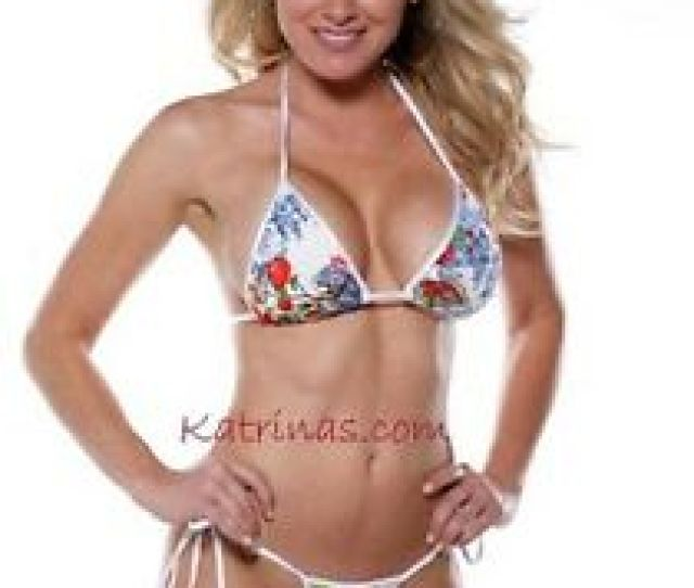 Image Is Loading Red Amp Blue Floral Side Tie Micro Thong