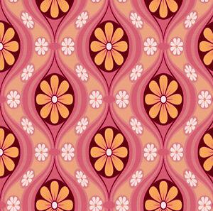 details sur maison de poupees papier peint echelle 1 12th 1 24th annees 60 annees 70 rose peche papier de qualite 268 afficher le titre d origine