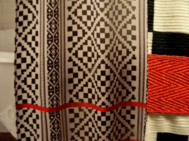 better homes and gardens aztec diamonds fabric shower curtain 72x72