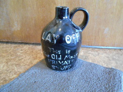 "Vintage Moonshine Bottle 6 1/2"" Inches Lay Off Old Mans ..."