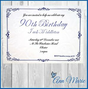 details about 10 x 90th personalised birthday party invitations birthday invites envelopes
