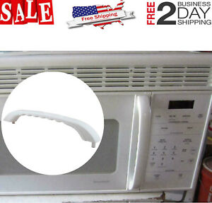 details about microwave door pulling handle white for ge spacemaker xl jvm1330ww 1340ww 1350ww