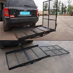 details about wheelchair carrier for vehicle trailer hitch mount mobility scooter loading ramp