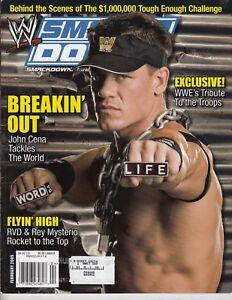 details about feb 2005 wwe smackdown magazine john cena breakin out john cena poster