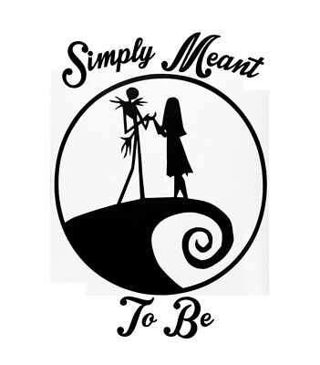 Download 1- Nightmare before christmas car decal Jack and Sally ...
