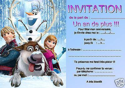 5 or 12 birthday invitation cards snow queen ref 312 ebay