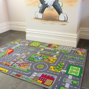 details sur kids routes ville jouet carte tapis de sol tapis pour voitures jouer filles garcons enfants salle de jeux afficher le titre d origine