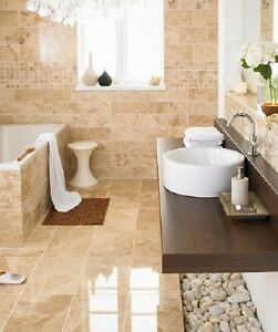 details about cappuccino polished marble tile 12 x12 x3 8 200 sq ft