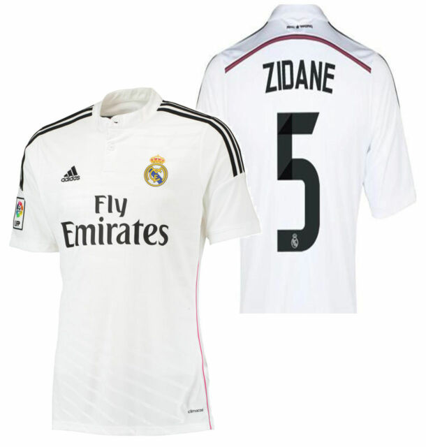 ADIDAS ZINEDINE ZIDANE REAL MADRID HOME JERSEY 2014/15 | eBay