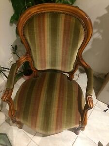 details sur fauteuil voltaire style louis philippe
