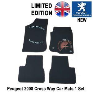 details sur peugeot 2008 tapis de voiture sol tapis noir edition limitee crossway 4pc authentique afficher le titre d origine