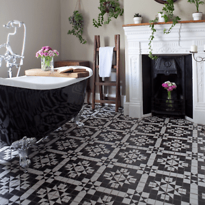 details about cut tile samples belgravia black white victorian style wall floor tiles