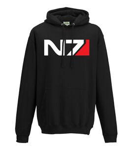Masa Efecto N7 Logo Sudadera Con Capucha