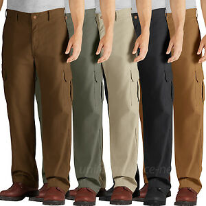 Dickies Work Pants Mens Relaxed Fit Straight Leg Cargo ...