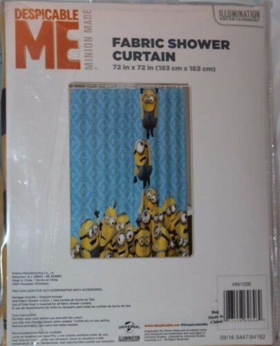 despicable me minion made minions fabric shower curtain 72x72 in shower curtains home garden