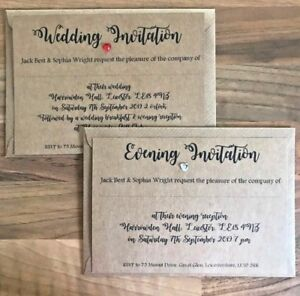 Details About Personalised Daytime Evening Wedding Invitations