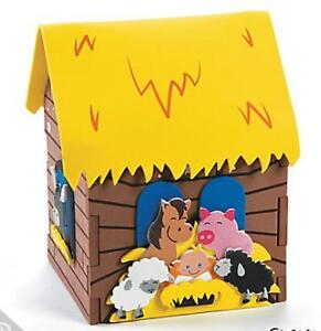 3D Nativity Stable Craft Kit Kids Gift Christmas Jesus