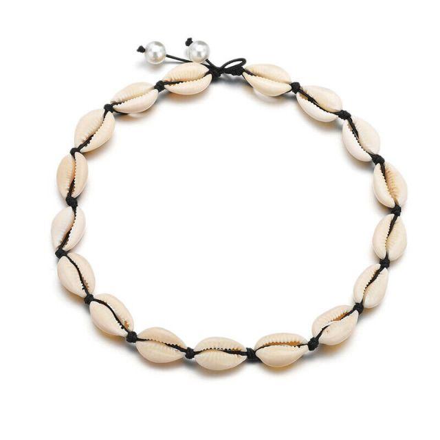 Natural Cowrie Sea Shell Choker Necklace Boho Surfer Beach Tribal Puka Jewelry 21