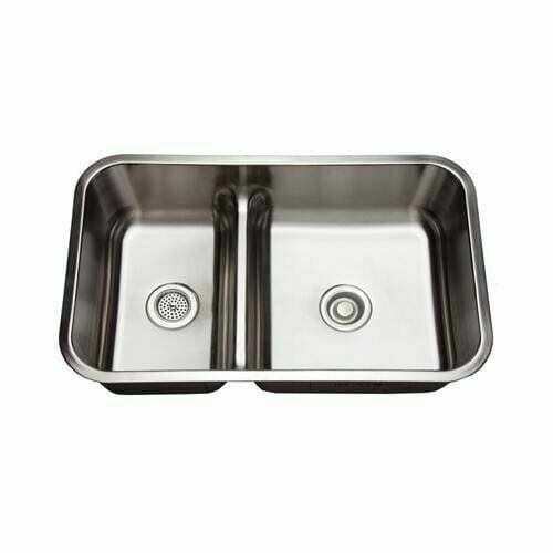 mirabelle mirurb3421 34 double basin stainless steel kitchen sink with 70 30 sp for sale online ebay