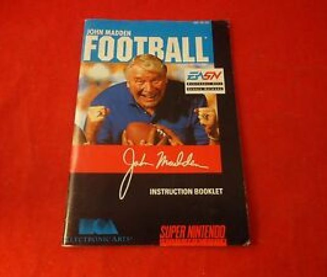 Image Is Loading John Madden Football Super Nintendo Snes Instruction Manual