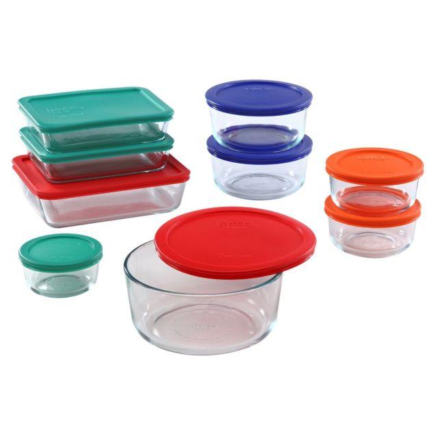 Pyrex 18 Piece Simply Food Storage Set - Assorted, BRAND NEW 2