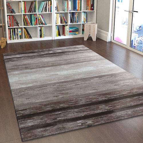 contemporain tapis marron beige a rayures creme tapis small x large area chambre tapis