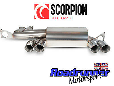 scorpion bmw m3 e46 stainless steel back box exhaust rear silencer quad 01 06 ebay
