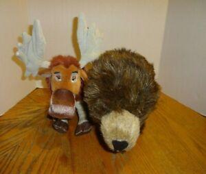 2 New Disney Plush Toys Moose Tuke Brother Bear Scout Disneynature Bears Ebay