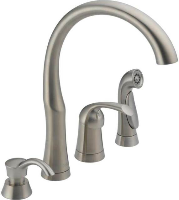 delta 11946 sssd dst bellini series brilliance stainless finish kitchen faucet